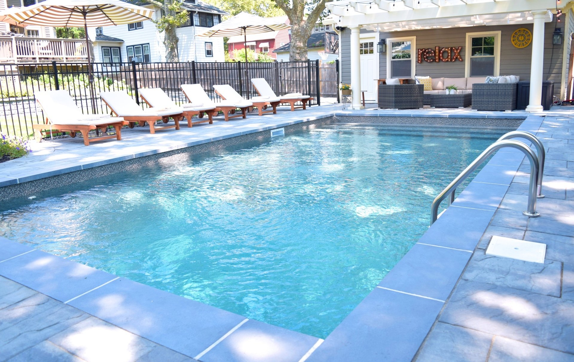 Rutherford, NJ built by The Pool Boss, #1 in New Jersey for Affordable, Luxury Pool Construction